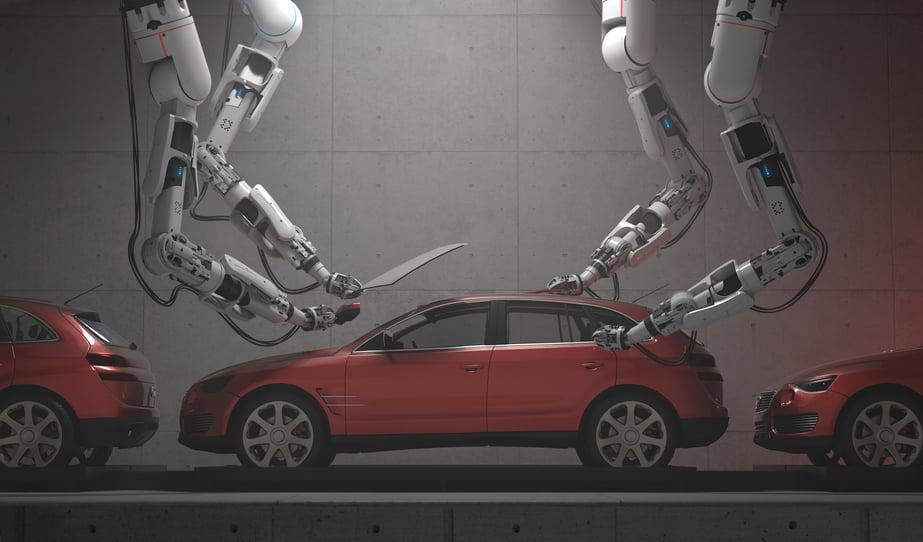 Stocksy robots on car - blog ci-cd